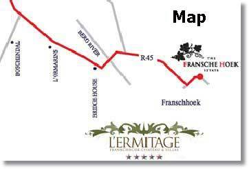 Franschhoek Map Cape Town maps
