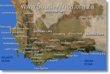 Western Cape Map and Towns