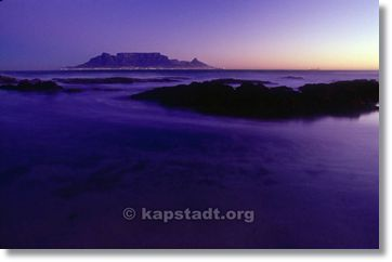 Cape Town Table Mountain at Night