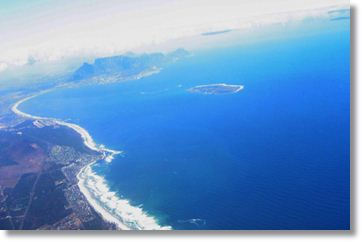 Aerial View of Bloubergstrand